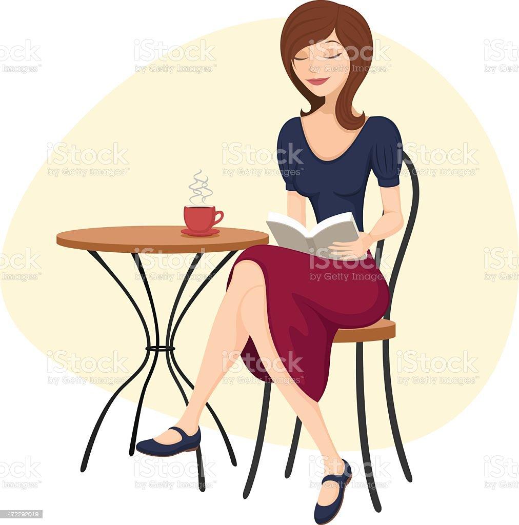 Woman Reading royalty-free stock vector art