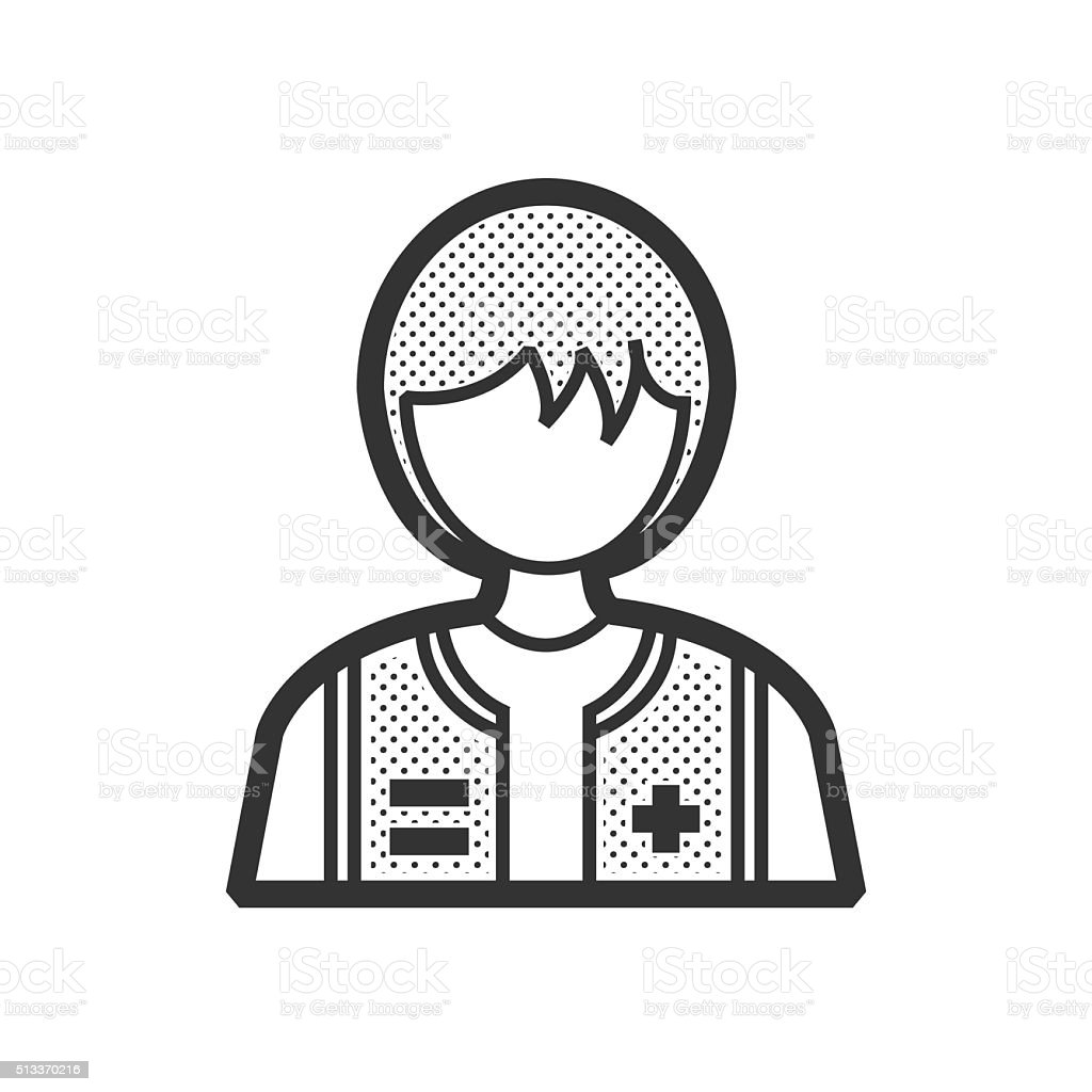 woman Rescuers, Medical avatar vector art illustration