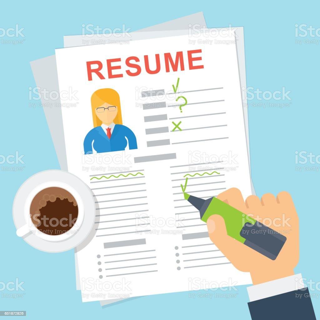 woman resume writing royalty free stock vector art - Resume Writing Free