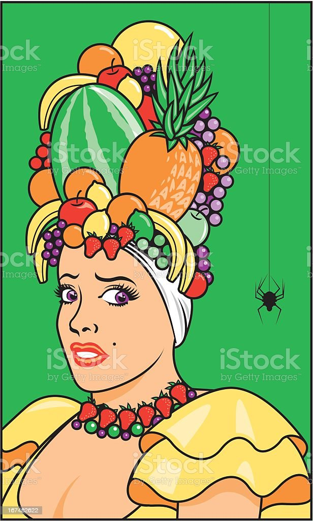 Woman Scared of Spider royalty-free stock vector art