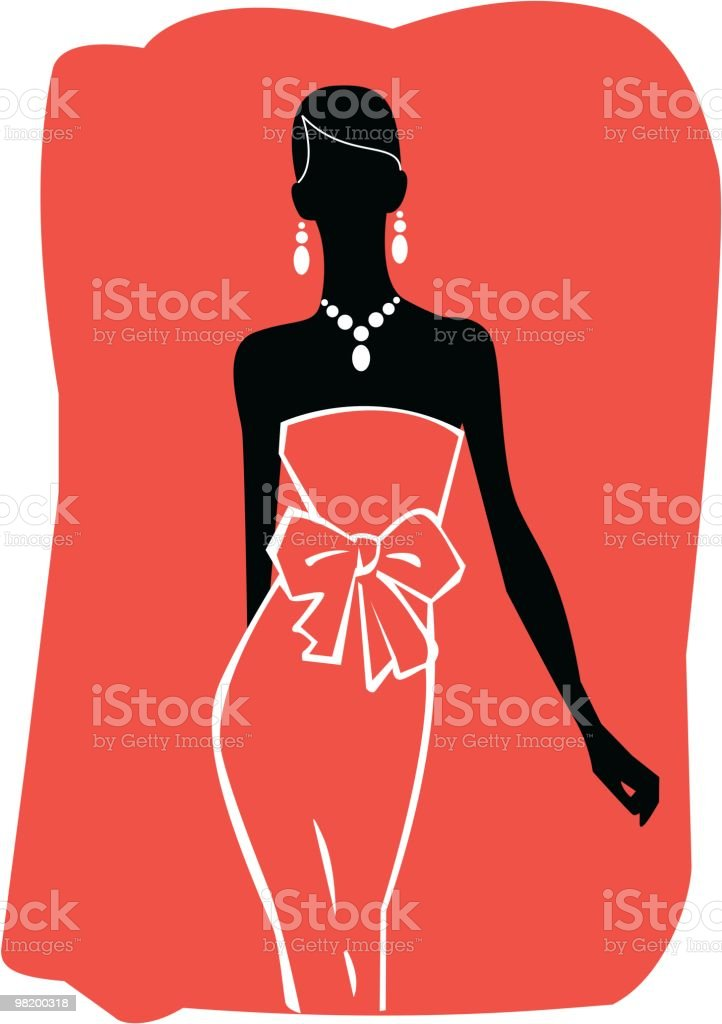 woman silhouette vector art illustration