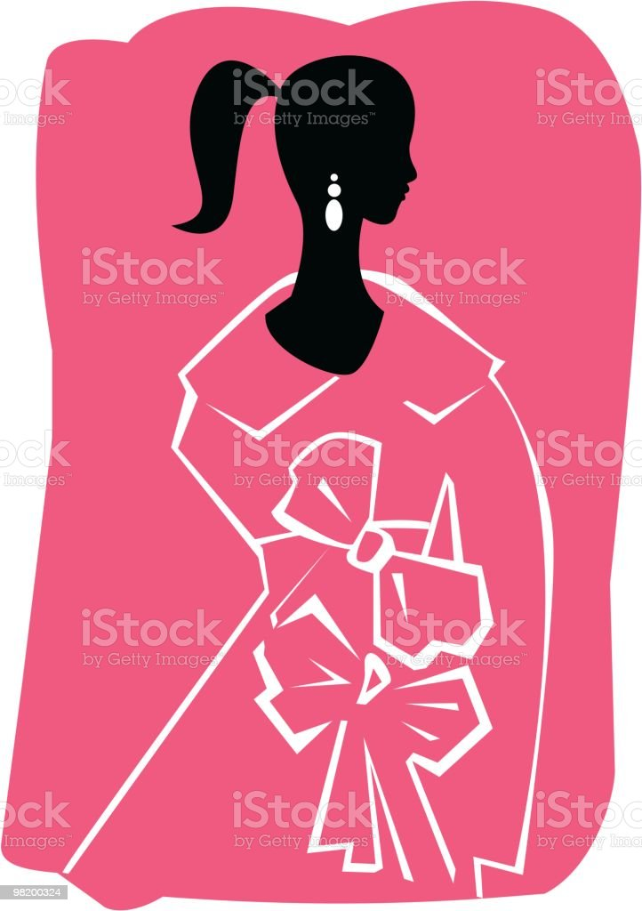woman silhouette royalty-free stock vector art