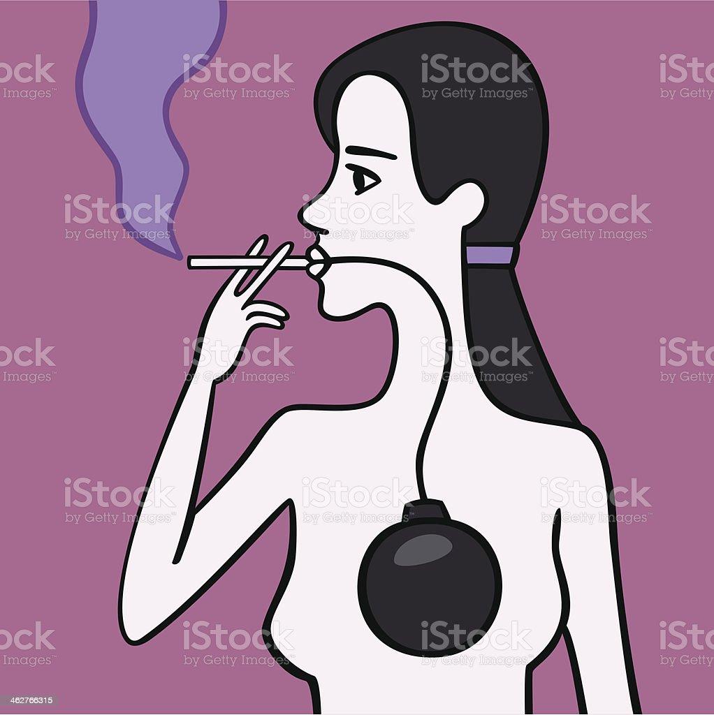 Woman smoker. royalty-free stock vector art