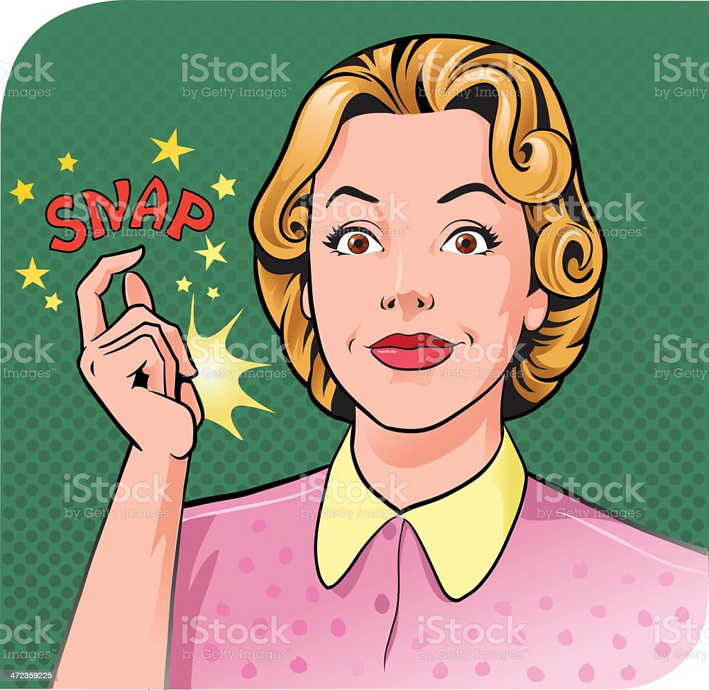 Woman Snapping Her Finger royalty-free stock vector art