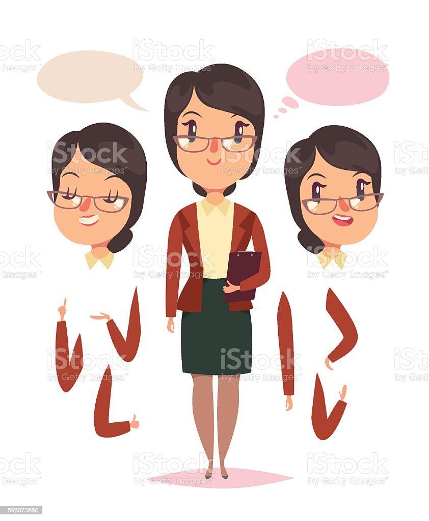 Woman teacher character vector art illustration