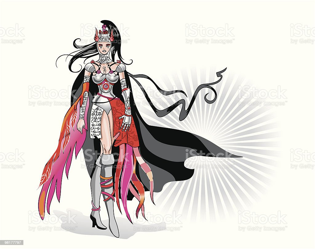 woman the knight royalty-free stock vector art