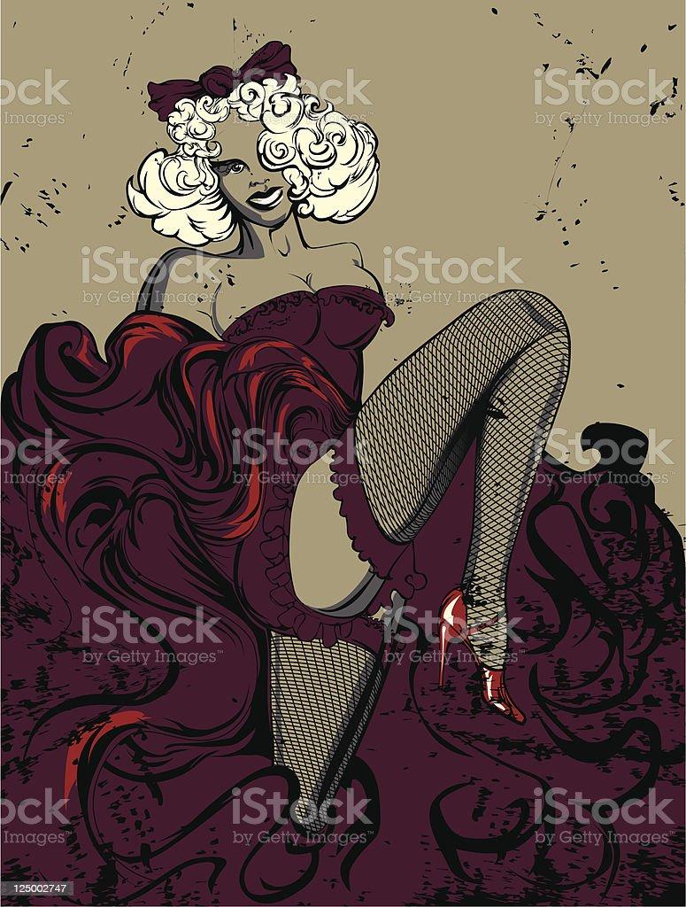 woman vector art illustration