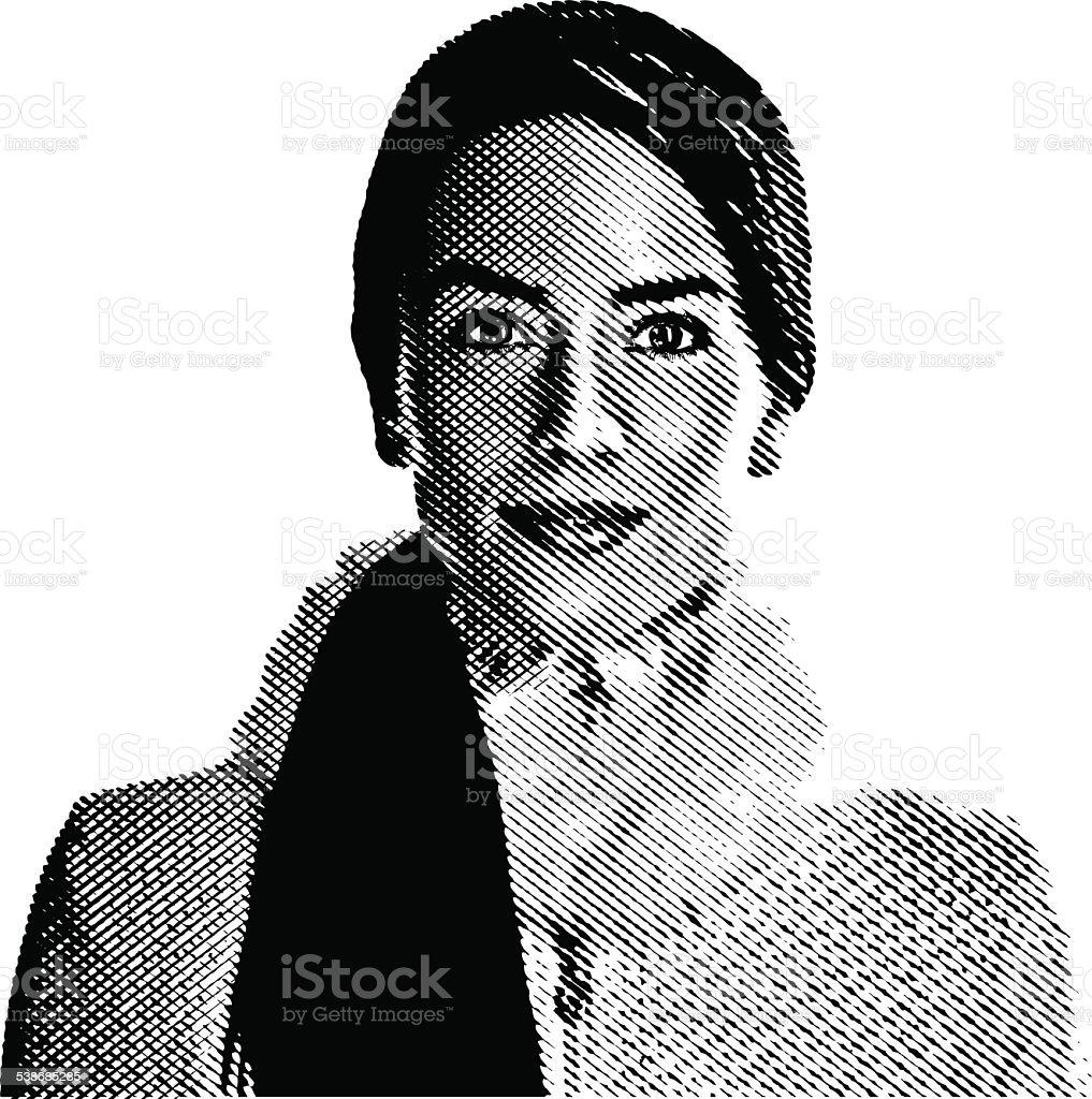 Woman Wearing Winter Coat vector art illustration
