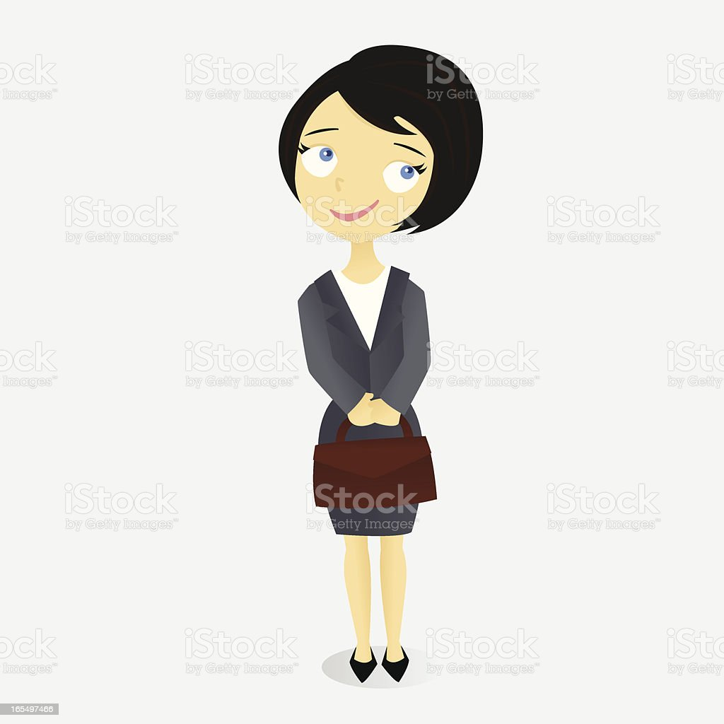 Woman with Briefcase royalty-free stock vector art
