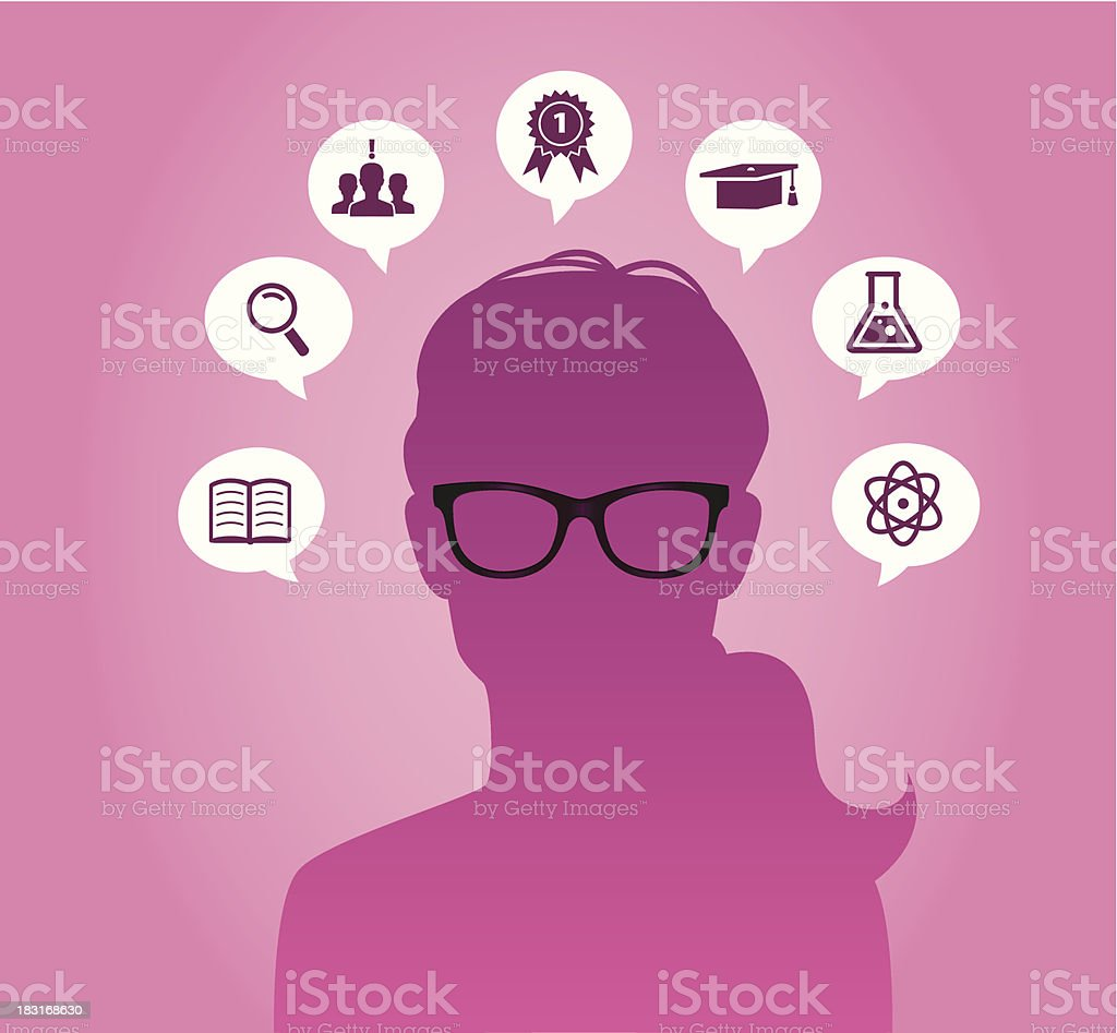 Woman with glasses royalty-free stock vector art