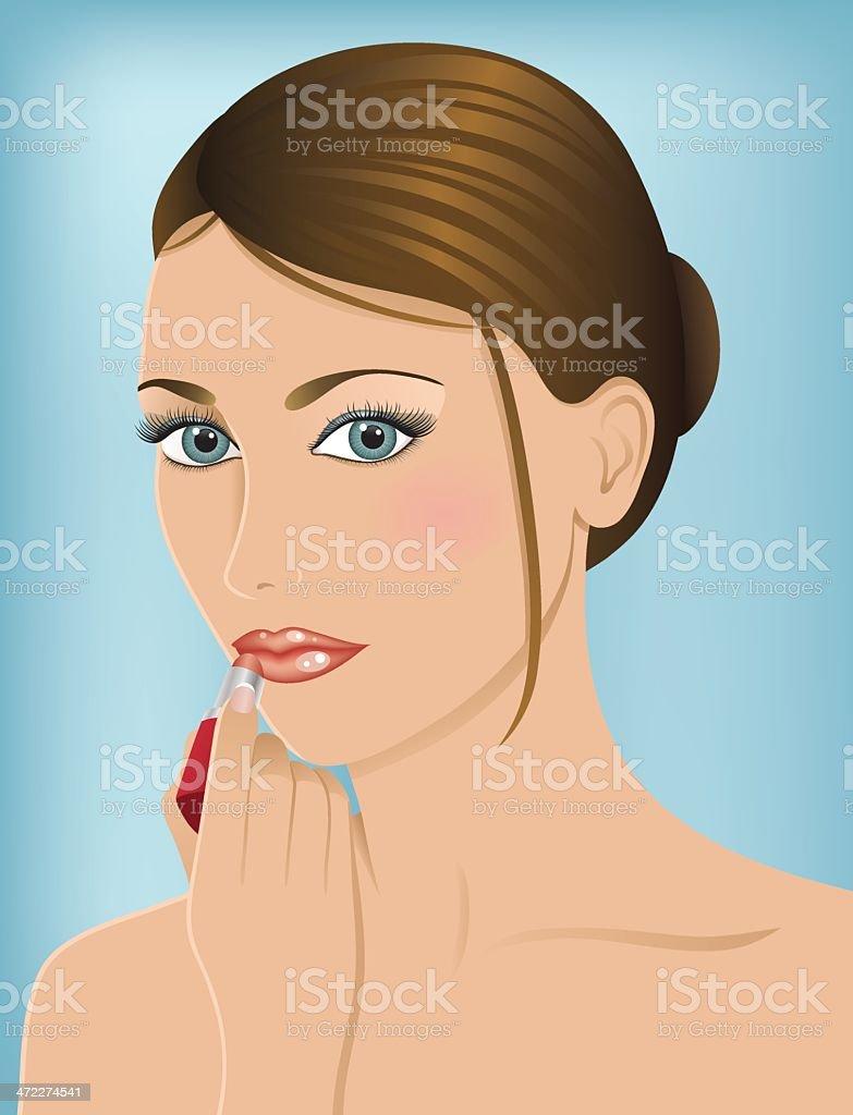 Woman with lipstick. royalty-free stock vector art