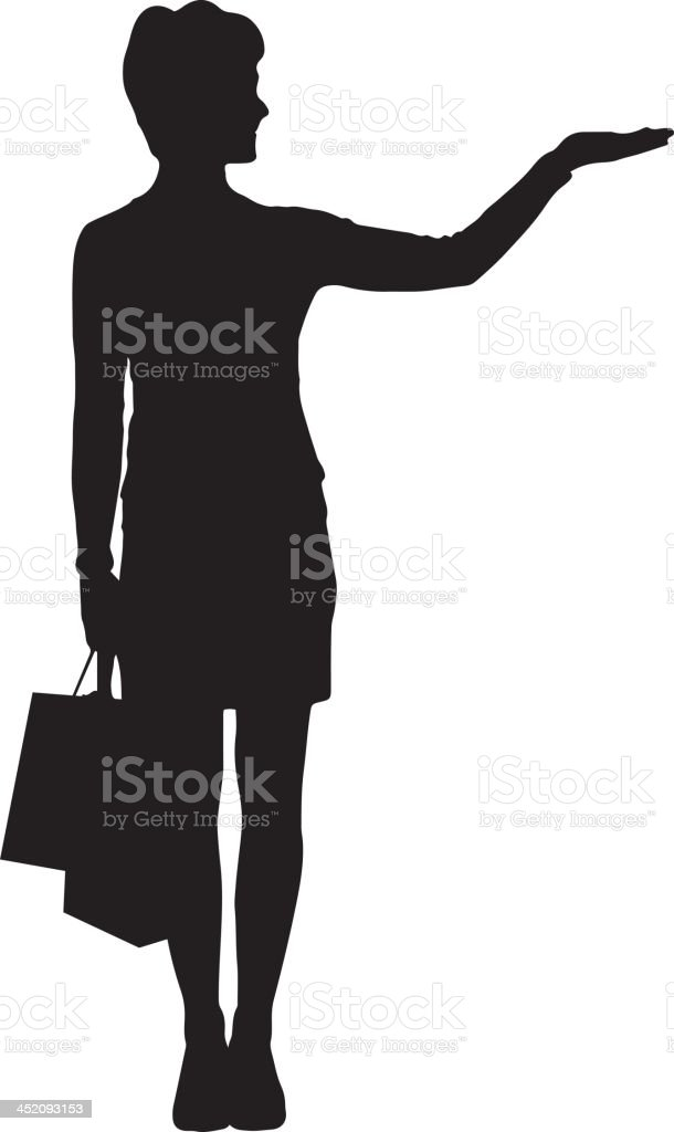 Woman with shopping bags silhouette royalty-free stock vector art