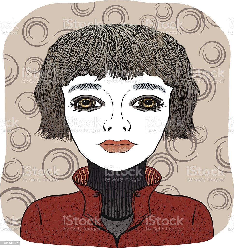 woman with short hair royalty-free stock vector art