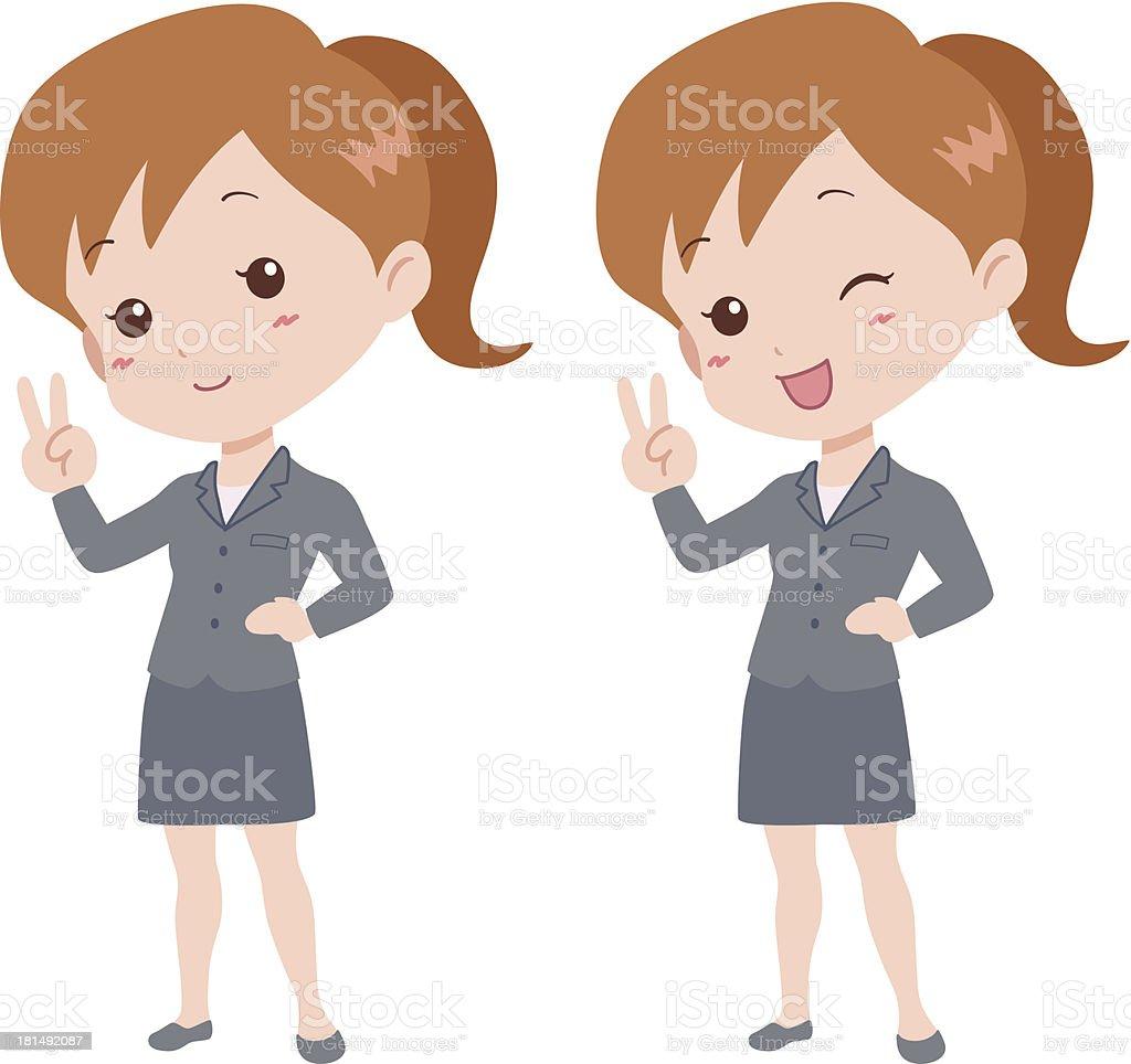 woman_happy royalty-free stock vector art