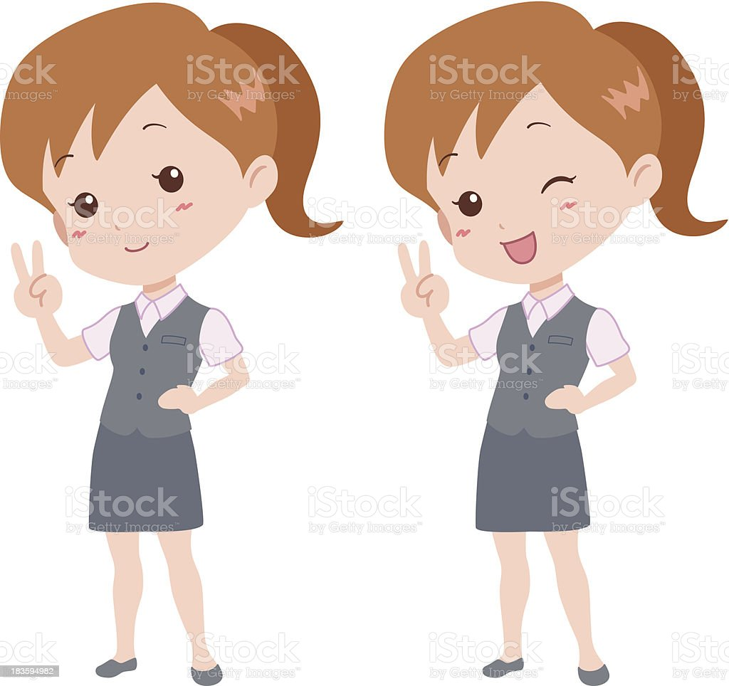 woman_happy royalty-free stock vector art