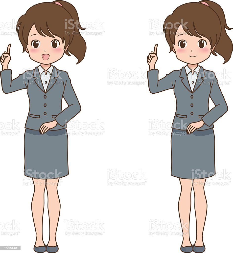 woman_point royalty-free stock vector art