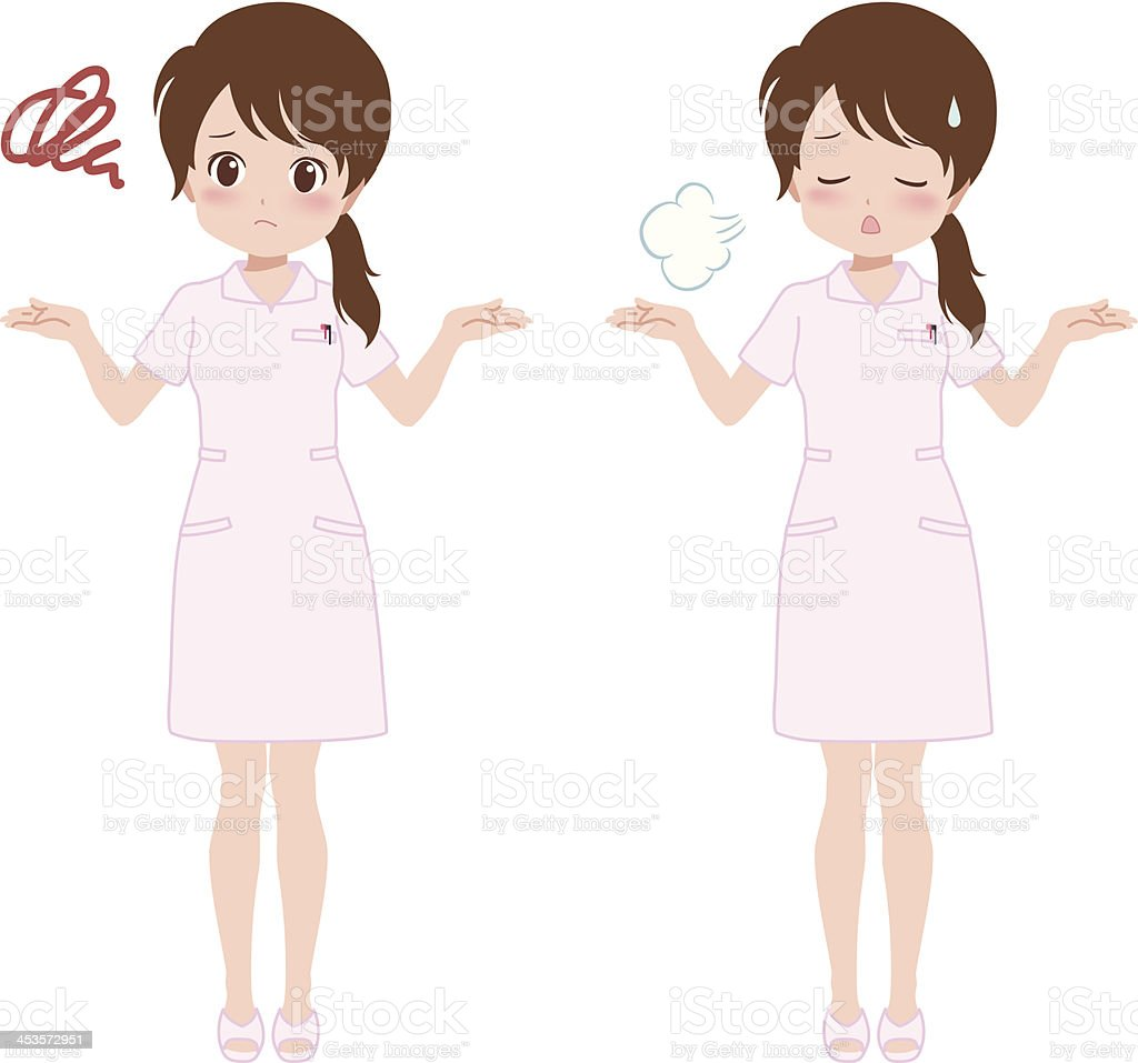 woman_trouble royalty-free stock vector art
