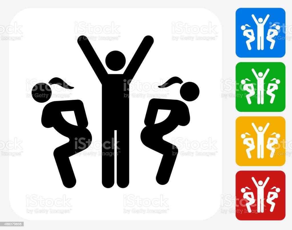 Womanizer Icon Flat Graphic Design vector art illustration