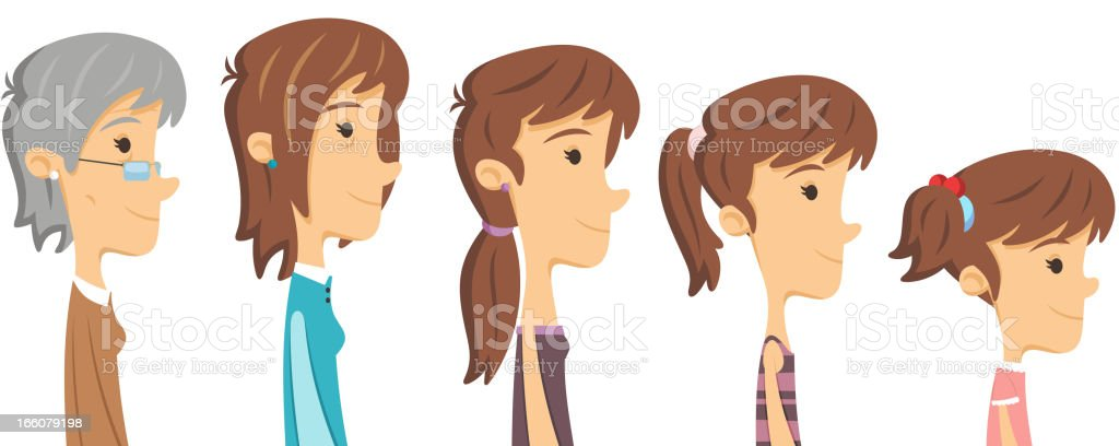 woman´s ages royalty-free stock vector art