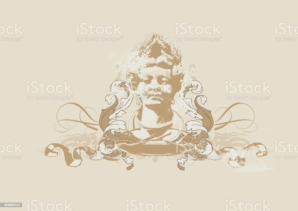 womans bust royalty-free stock vector art