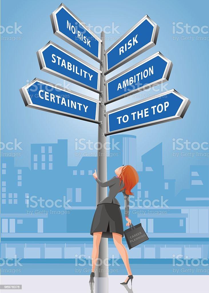 Womans Career Choice vector art illustration
