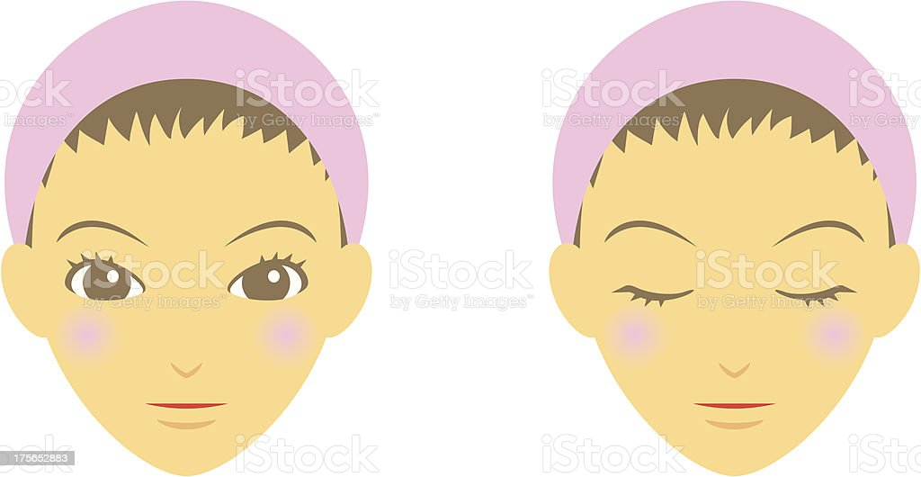woman's face royalty-free stock vector art