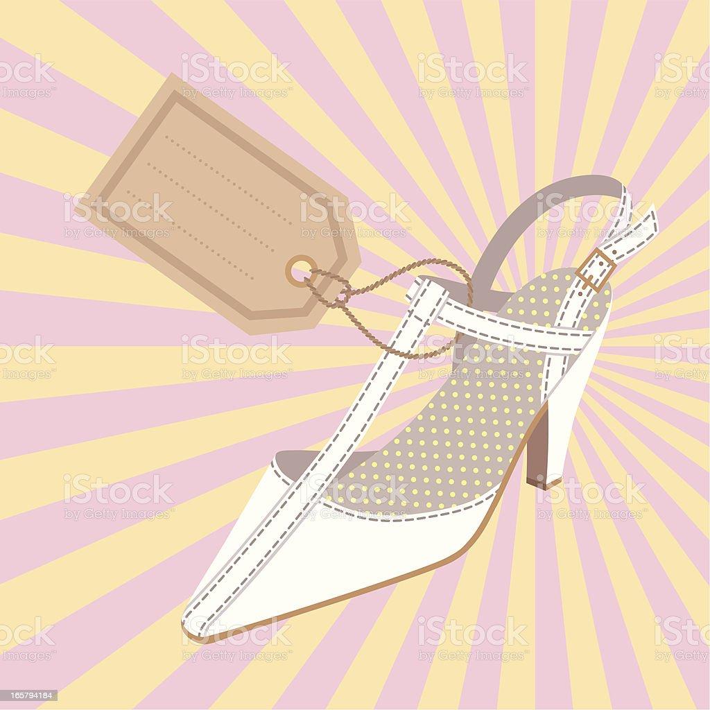 Woman's  Shoe. royalty-free stock vector art