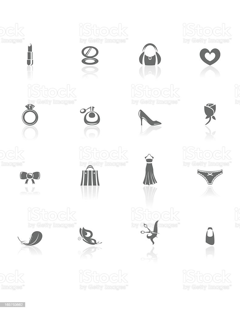 Woman's World | BW Icons royalty-free stock vector art