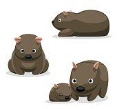 Wombat Cartoon Vector Illustration 2