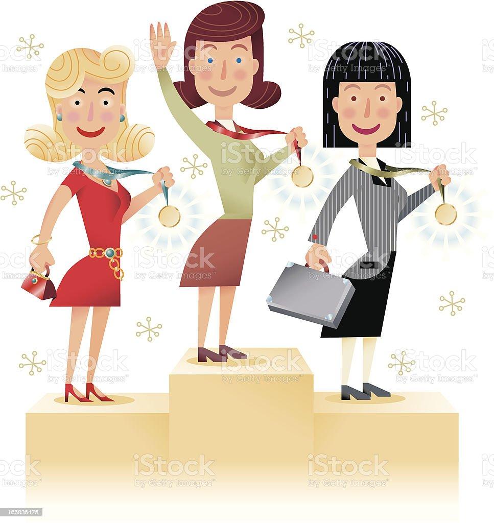 Women are Winners royalty-free stock vector art