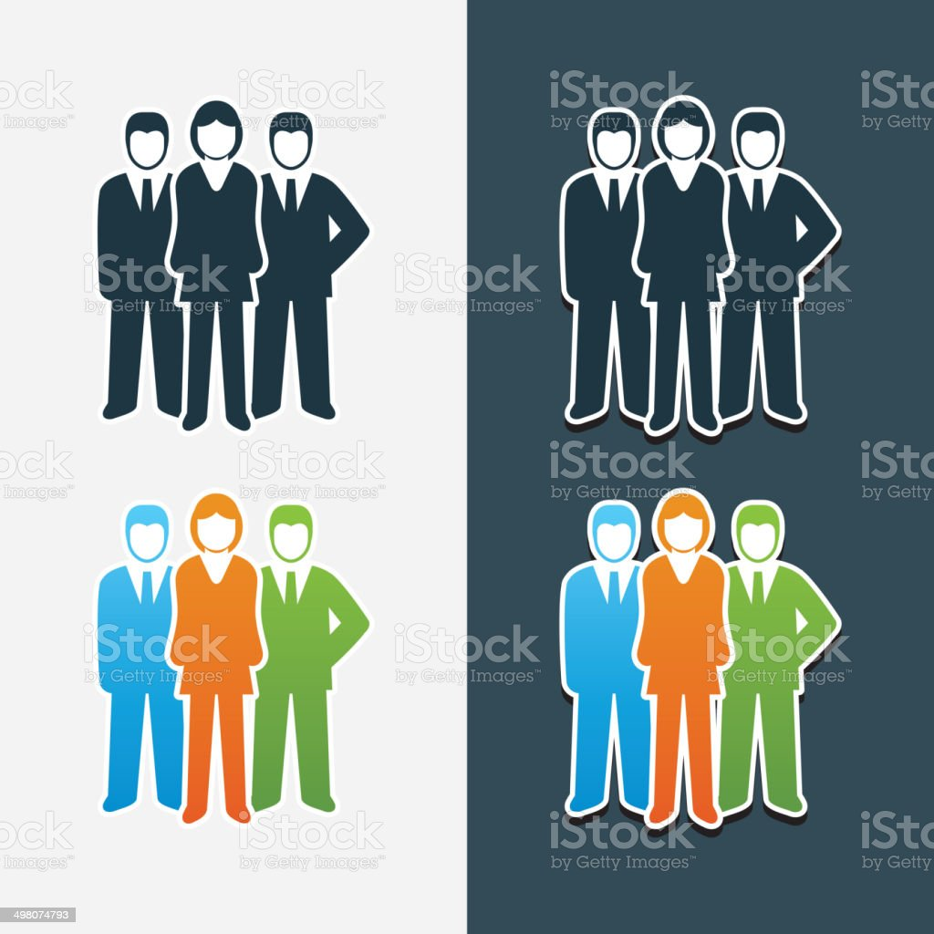 Women bosses vector art illustration
