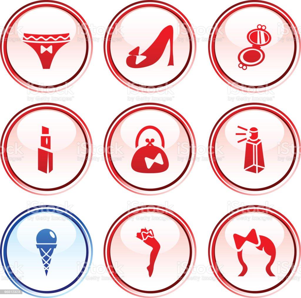 Women  buttons. royalty-free stock vector art