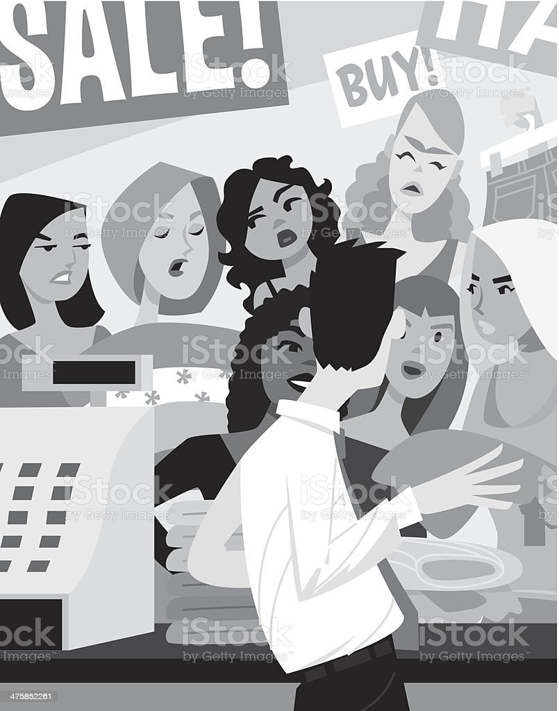 Women Cashier royalty-free stock vector art
