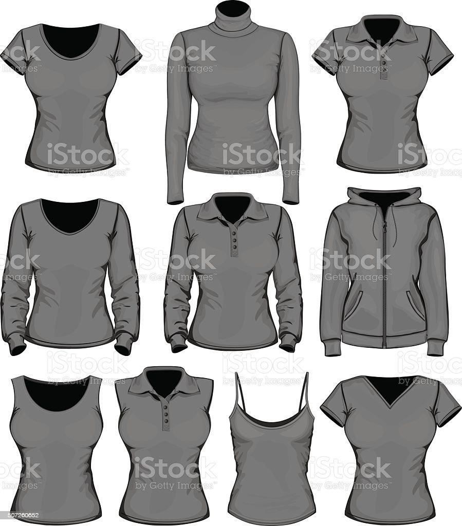 Women clothes collection vector art illustration