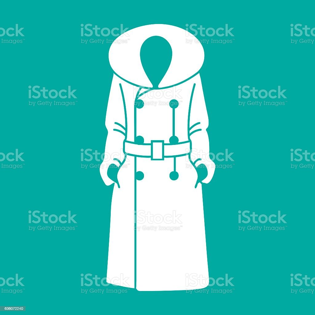 Women coat icon on background, vector illustration vector art illustration