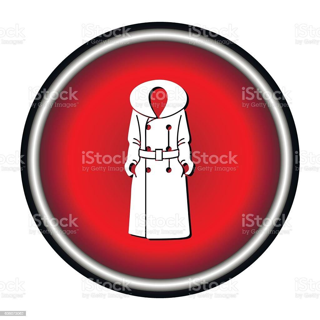 Women coat icon on white background, vector illustration vector art illustration