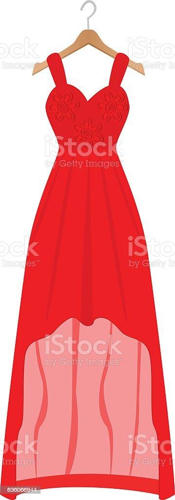 Women Dress vector art illustration
