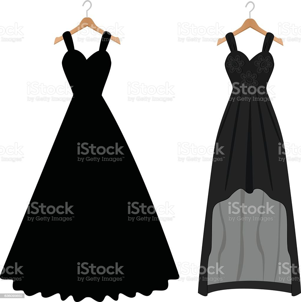 Women Dresses vector art illustration