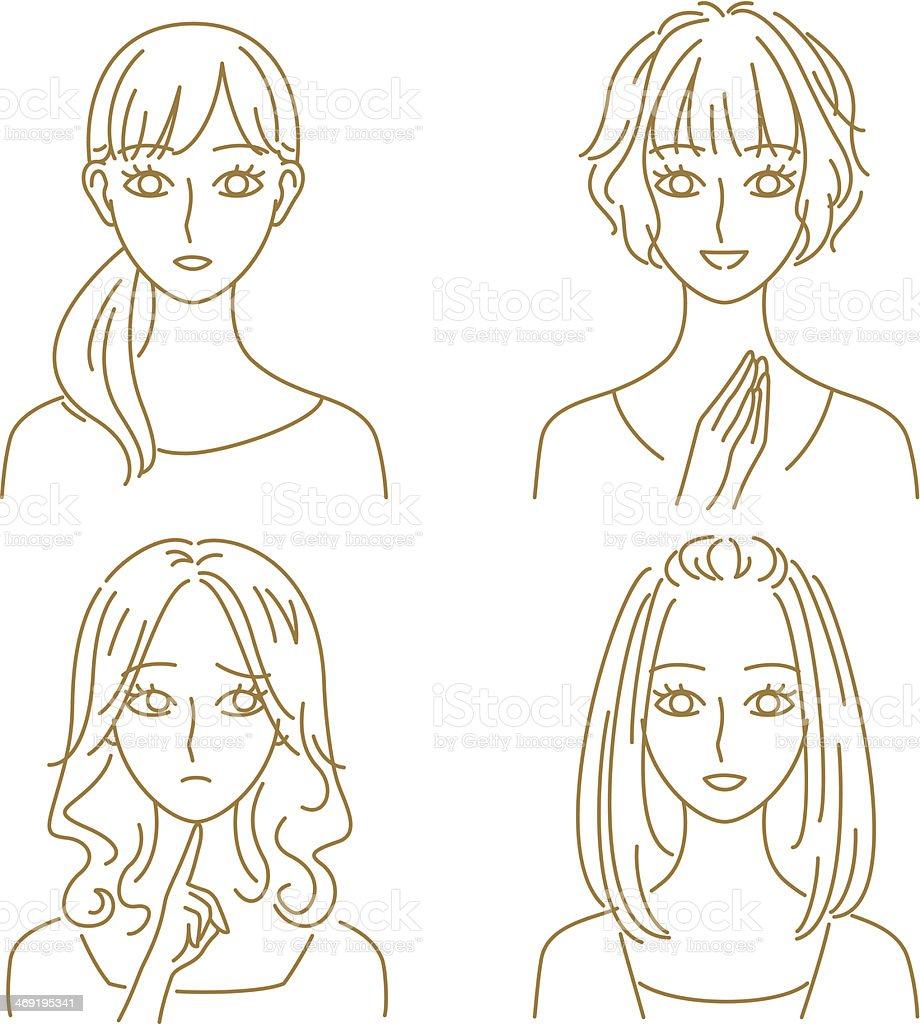 women expressions royalty-free stock vector art