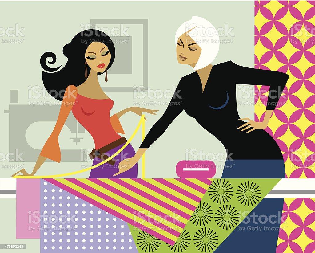 Women Fabrics C vector art illustration