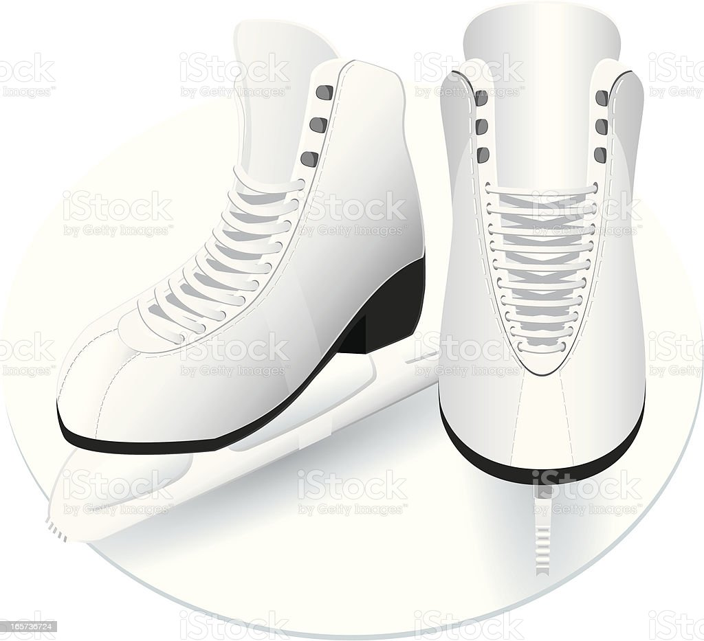 Women figure skates. vector art illustration