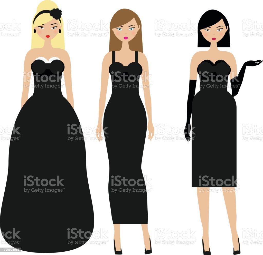 Dress code evening attire - Women In Black Dresses Female Night Evening Dressy Dresscode Ladies In Elegant Fashionable