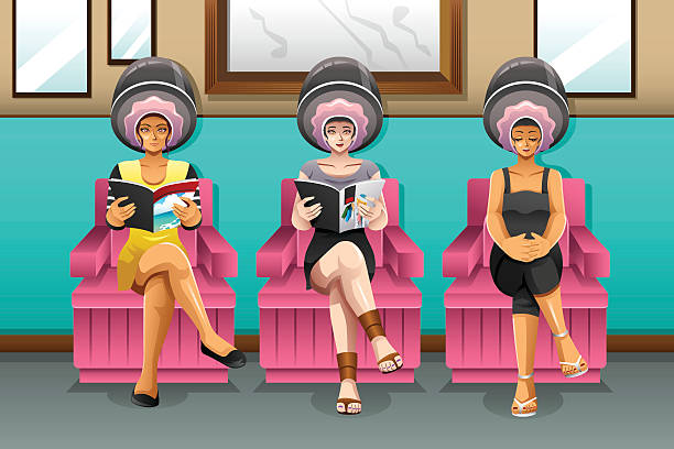 salon cartoon beauty vector hair clip illustrations similar