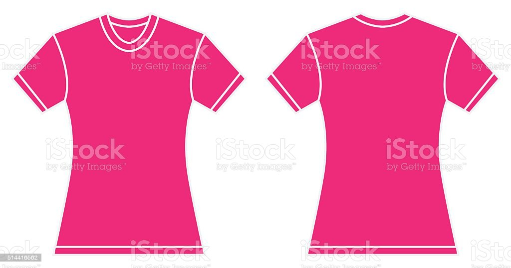 Women Pink Shirt Design Template vector art illustration