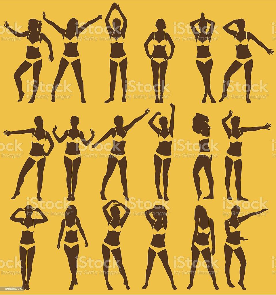 women series - bikini royalty-free stock vector art