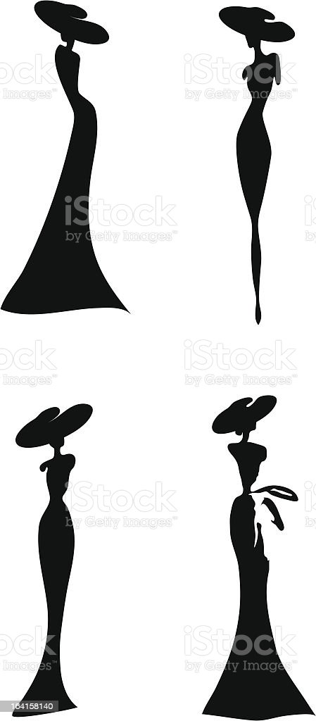 women silhouette vector art illustration