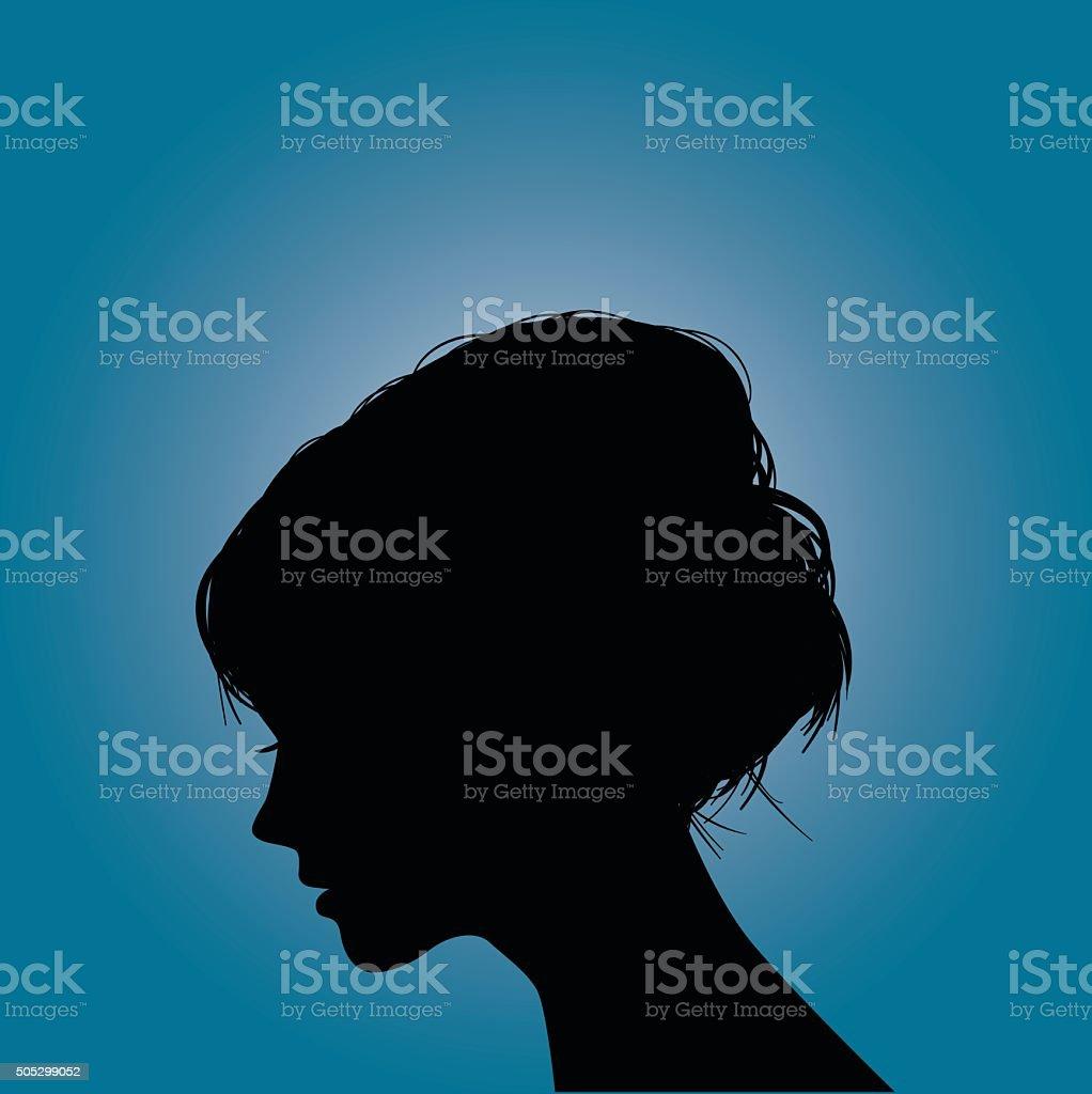 Women Silhouette vector art illustration
