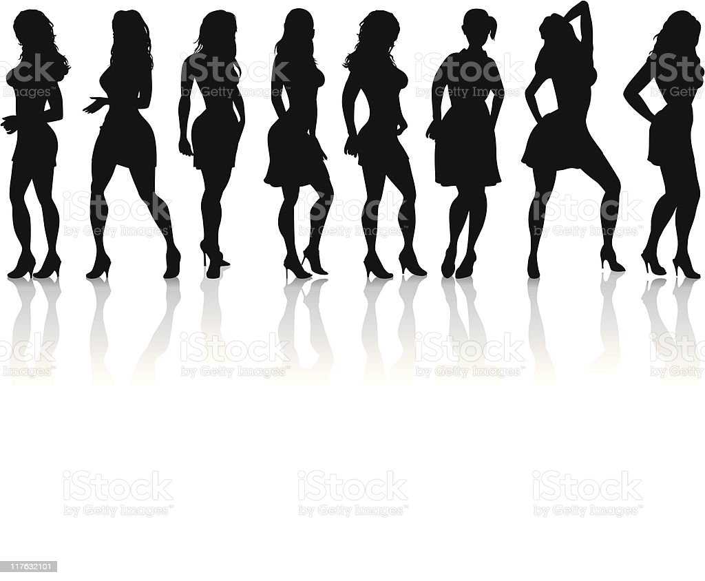 Women Silhouettes Lifestyle royalty-free stock vector art