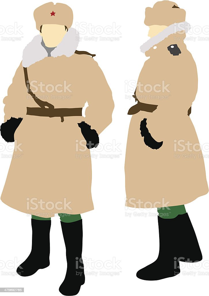 Women soldiers vector art illustration