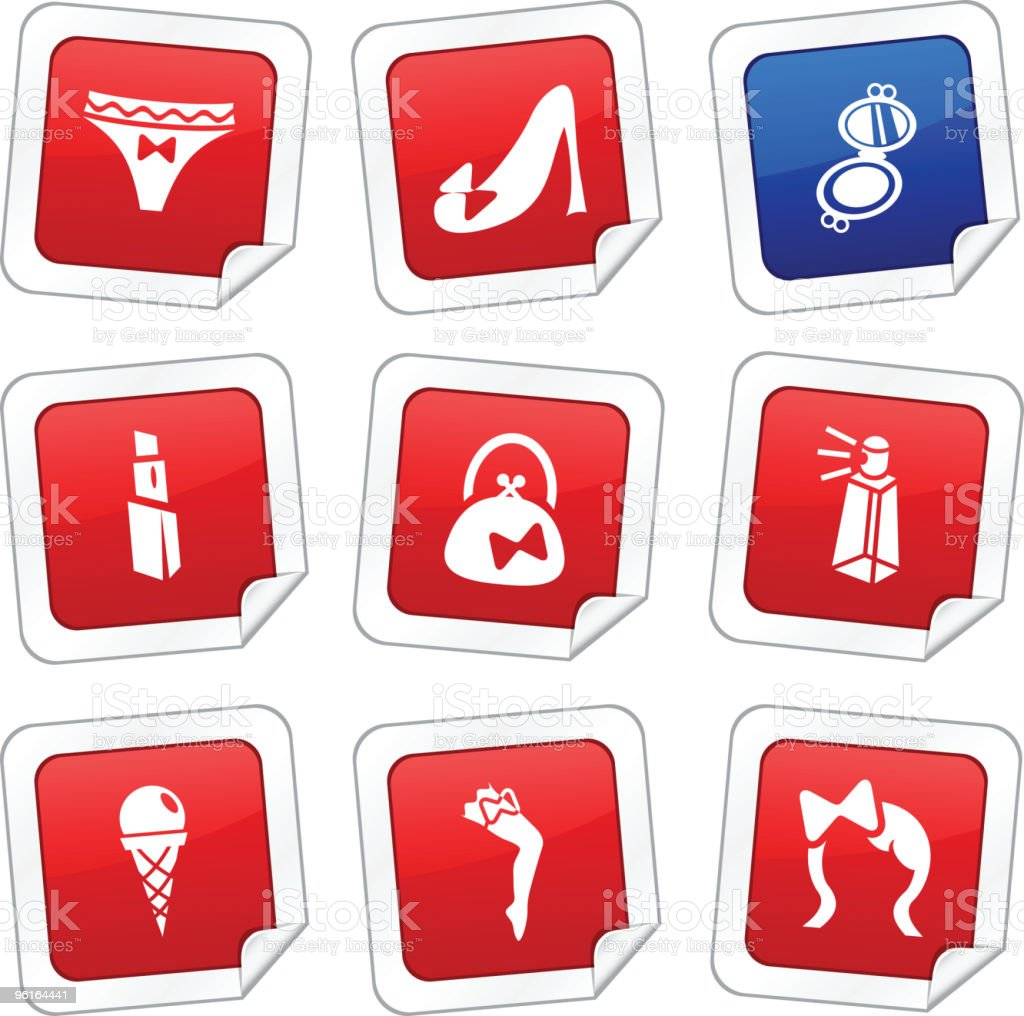 Women stickers royalty-free stock vector art